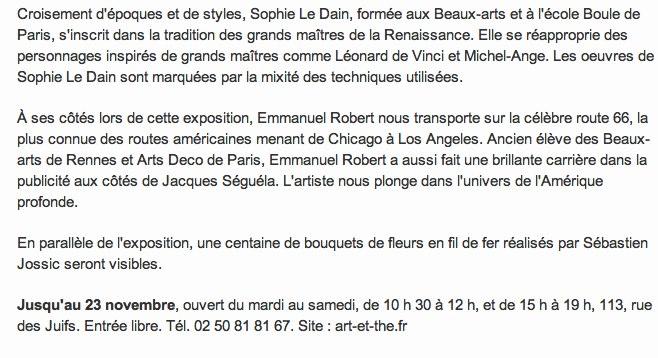 S. Le Dain et E. Robert exposent à la galerie Art et thé-1