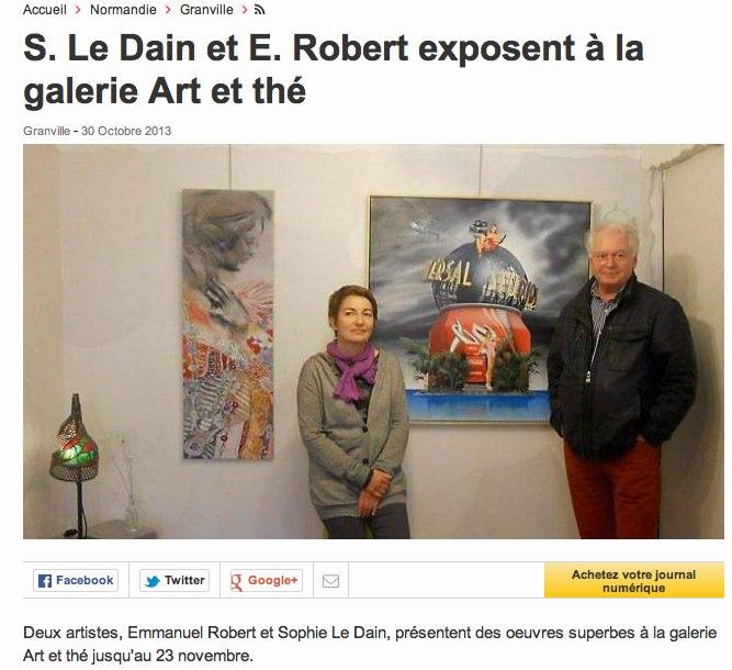 S. Le Dain et E. Robert exposent à la galerie Art et thé