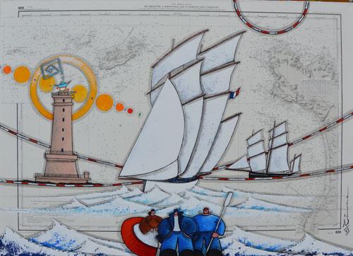la-granvillaise-et-le-phare-de-Goury 1600€