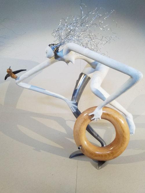 _-Le-plongeon----1-résine,métal,bois---51x38x57